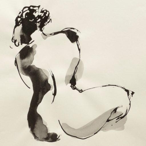 encre de chine sur papier 30 x 30 © Francine Bassède