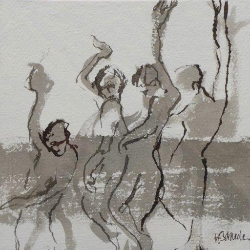 encre de chine sur papier chiffon 20 x 20 © Francine Bassède