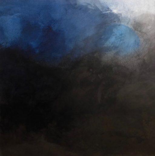 encre sur papier marouflé  sur  toile 120 x 120