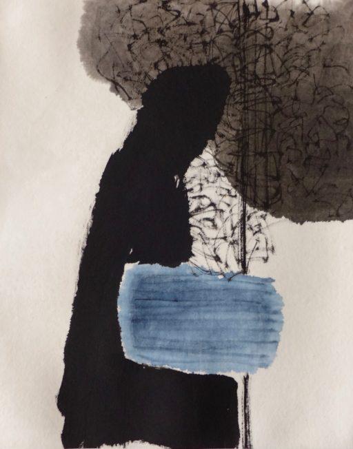 encre de chine et aquarelle sur papier de riz 33 x 27
