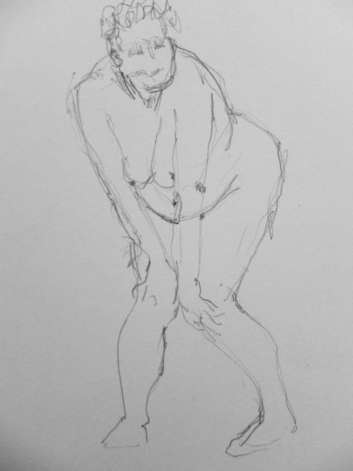crayon sur papier 42 x 30 © Francine Bassède