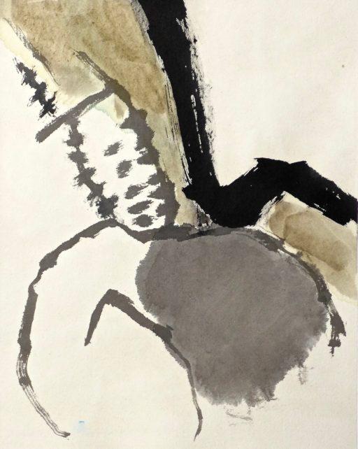 encre de chine et aquarelle sur papier de riz 40x30