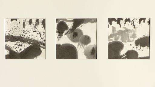 """""""haïku pictural"""" encre de chine sur papier de riz 50 x 70 © Francine Bassède"""
