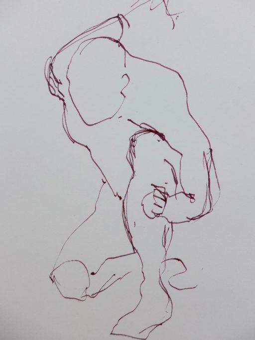 encre au calame sur papier 42 x 30 © Francine Bassède