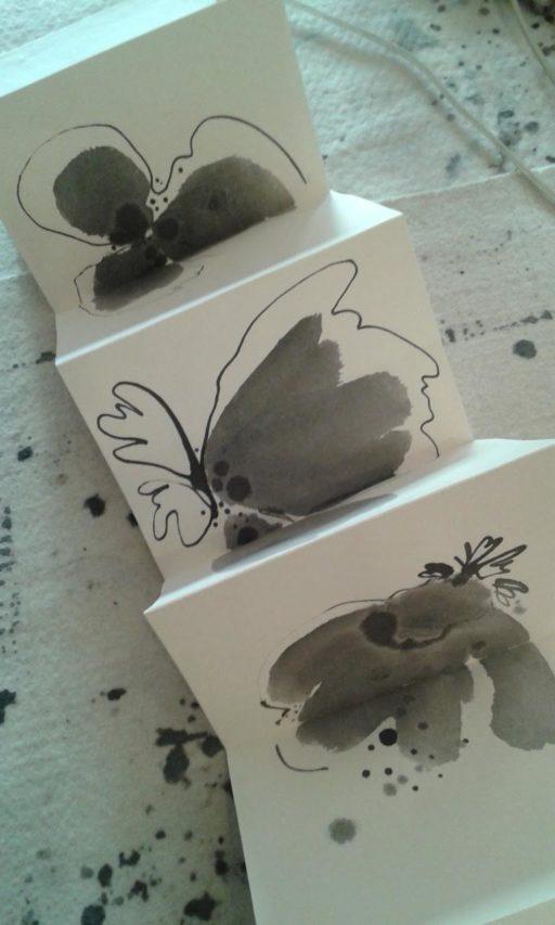 leporello encre de chine sur papier 12 x 90 © Francine Bassède